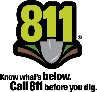 The 811 logo is a registered trademark of the CGA.